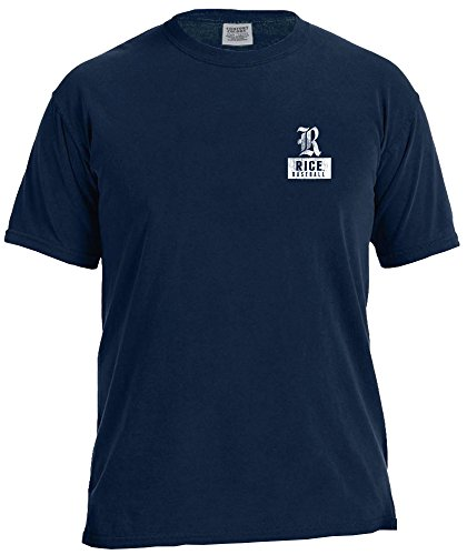 NCAA Rice Owls Vintage Baseball Flag Short Sleeve Comfort Color T-Shirt, Large,TrueNavy
