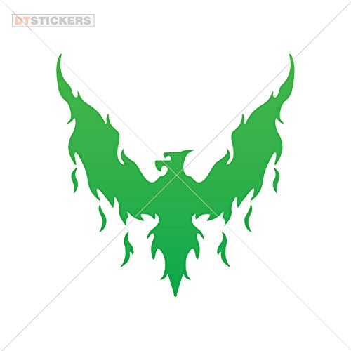 Vinyl Sticker Decal Eagles phoenix rizing Atv Car Garage bike (7 X 6,86 In. ) Green