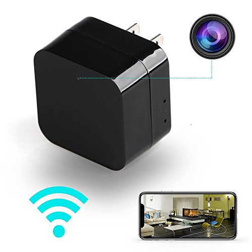 Semsor Charger Hidden Spy Cam with Night Vision Feature. Easy Set Up, WiFi, P2P, 1080p Resolution, Motion Detection, 150 Degree Wide Angle, Loop Recording. for Home, Baby's Room, Surveillance