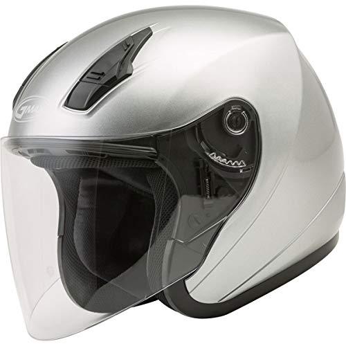 GMAX OF-17 Adult Open-Face Street Motorcycle Helmet - Dark Silver/Large