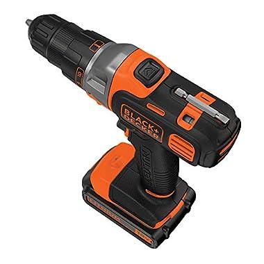 BLACK+DECKER MT218K-GB 18V 10mm Li-ion Cordless Multi-Evo Multitool Starter Kit with Drill Driver Head (Orange) 9