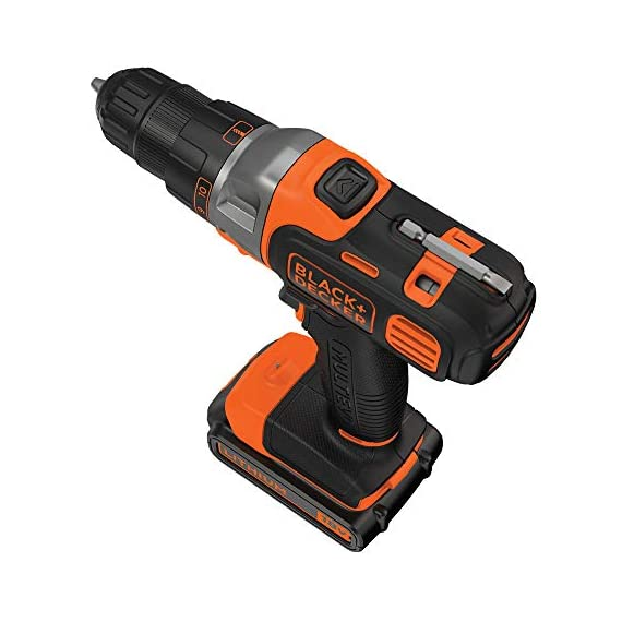 BLACK+DECKER MT218K-GB 18V 10mm Li-ion Cordless Multi-Evo Multitool Starter Kit with Drill Driver Head (Orange) 4