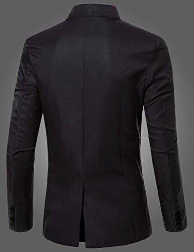 Blazer Men's Breasted Blazers Sport Button Jacket Double Black Solid Casual TTYLLMAO Suit dwqcStHIgd