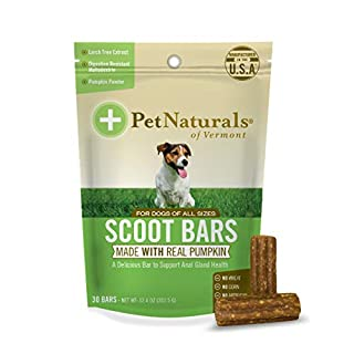 Pet Naturals of Vermont - Scoot Bars, Natural Anal Gland Support Supplement for Dogs, 30 Chew Bars