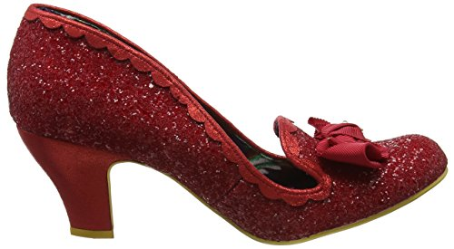 Scelta Irregolare Delle Donne Kanjanka Scarpe Da Sera Corte Glitter Tacco Medio Rosso