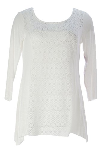 Miraclebody by Miraclesuit Women's Mix Media Eyelet Scoop...