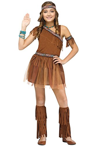 Fun World 117442L Girl's Give Thanks Costume, Large, Multicolor ()