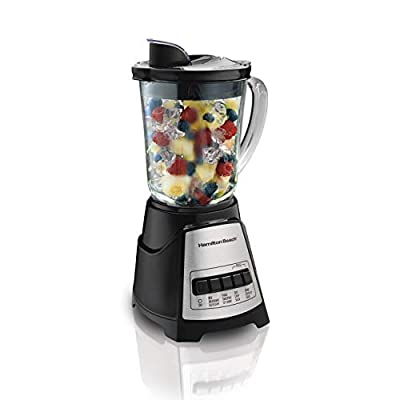 Hamilton Beach 58148A Power Elite Multi-Function Blender with Glass Jar 40 oz Black