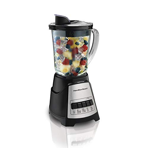 Hamilton Beach 58148 Power Elite Multi-Function Blender with Glass Jar (58148A), OSFA Black