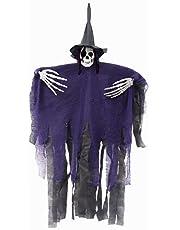 Halloween decoratie horror, Halloween hangende decoratie, Halloween skelet decoratie spook, Halloween vliegend spook hangend heks skelet, Halloween house party decor buiten binnen gebruik