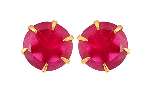 Handicraft Kottage Girl's Gold Brass Stud Earrings (AGEAR-051) by Handicraft Kottage