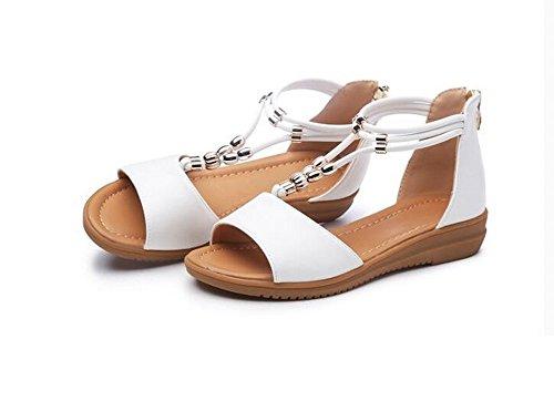 Toe Bajos Sandalias Sandalias Alto Zapatos Chanclas Verano heelsWomen señoras Zapatos Peep LI BAJIAN 4HxnPq8YP