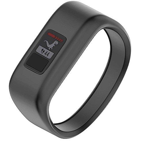 NotoCity Compatible Garmin Vivofit JR Bands Soft Silicone Replacement Watch Bands for Garmin Vivofit JR/Vivofit 3,Black Small