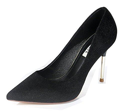 Escarpins Femme Talons Aiguilles Noir Basse Hauts Aisun Classique Simple 1FwqxRR