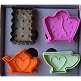 NY CAKE Tea Time Set Plunger and Cutter, Set of 4