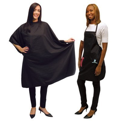 SALONCHIC Salon Spa Hair Cutting Hairdressing Styling Cape & Apron Set CA-4051 by Burmax