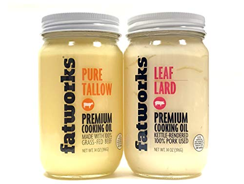 Fatworks Pure Tallow + Leaf Lard Combo Pack 14 Fl Oz | 2 ()
