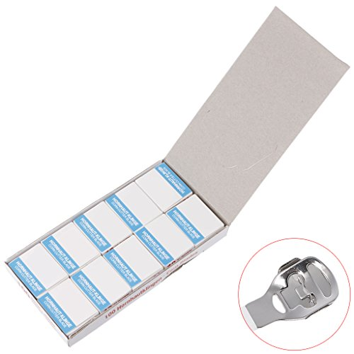 BKID 100Pcs/Set Replacement Blades,Pedicure Safety Slide Callus Remover Shaver Corn Cutter,Skin Foot Callus Rasp Remover Pedicure Blades