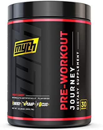 Myth Journey Pre Workout Powder – Energy Supplement Pre Workout for Men Women – Caffeine, Alpha GPC, L-Citrulline, Beta-Alanine – Fruit Candy, 30 Servings 2020 Flavor