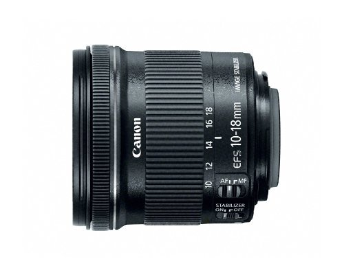 Canon EF-S 10-18mm f/4.5-5.6 IS STM Lens, Lens Only