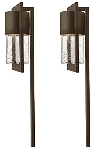 (Hinkley Lighting 1547KZ Dwell 18-Watt T-5 Wedge Base Light Bulb Low Voltage Path Light, Buckeye Bronze Finish - 2 Pack)