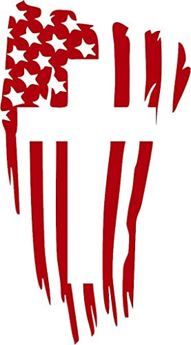 Family Connections American Flag with Cross Vinyl Decal Sticker for Window ~Car ~ Truck~ Boat~ Laptop~ iPhone~ Motorcycle~ Size 3.88