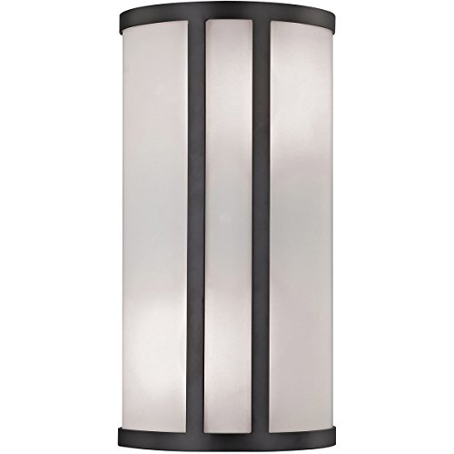 Bella Collection Two Light Vanity - Elk Lighting CN510571 Bella 2-Light Oil Rubbed Bronze with White Glass Diffuser Vanity Wall Sconce