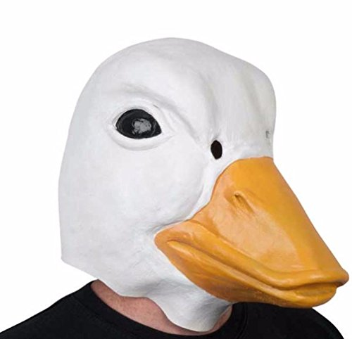 [Mememall Fashion Deluxe RUBBER DUCK MASK Chick Jumbo Head Latex Animal Costume Bird Mascot Donald] (Wicked Jester Deluxe Adult Mens Costumes)