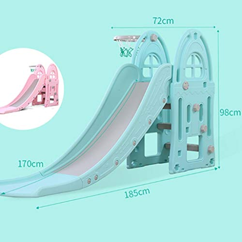 Freestanding Slides Slide Children's Indoor Slide Combination Baby Baby Slide Outdoor Children's Toys Kindergarten Long Small Toys Playground Children's Gifts (Color : Blue, Size : 185x98cm) by Freestanding Slides (Image #6)