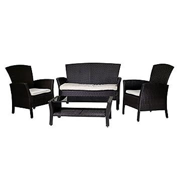 Luxurygarden - Set salón de jardín con sofá sillones Mesa de ...