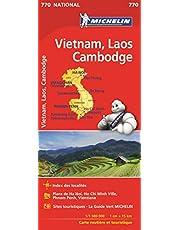 Vietnam, Laos Cambodia 770 carte nat.