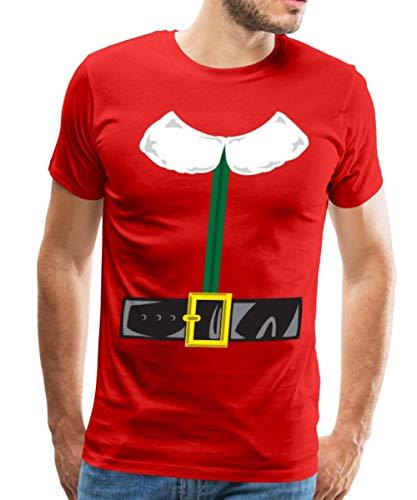Spreadshirt Christmas Elf Costume Men's Premium T-Shirt, 2XL, -
