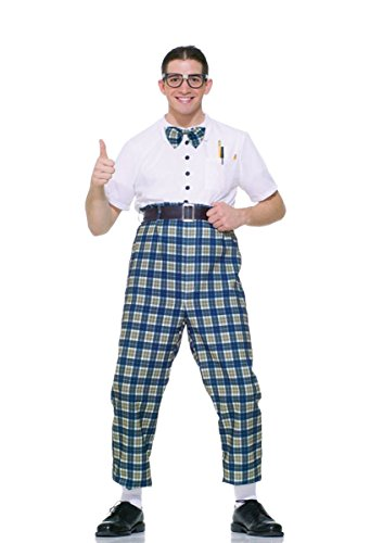 UHC Men's Nerd Outfit Funny Comical Theme Fancy Dress Halloween Costume, - Outfits Nerd Halloween