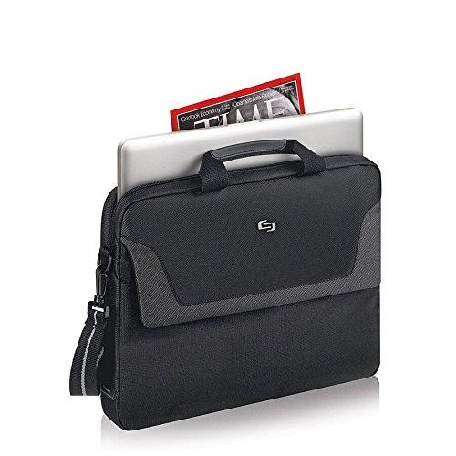 030918006627 - Solo Flatiron 16 Inch Laptop Slim Brief, Black carousel main 2