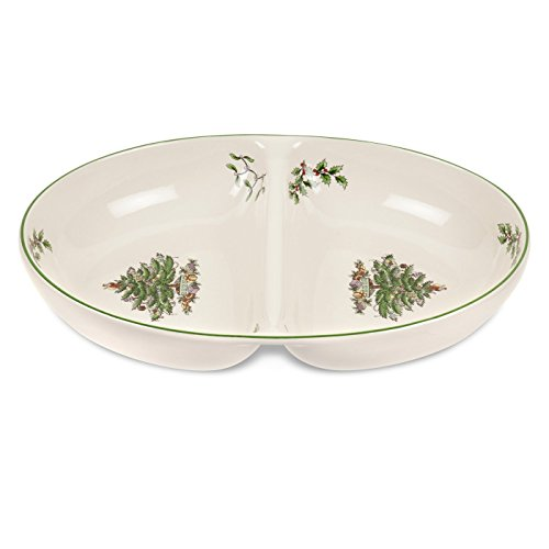Spode Christmas Tree Divided Dish (Spode Christmas Silverware)