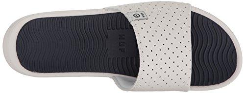 Sandale Glissière Huf Mens Blanc / Marine