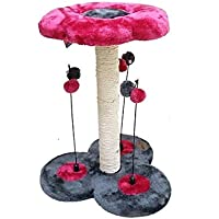 CATRY CAT TREE 35 X 33 X 45cm CAT PLAY N SCRATCH TOWER W HANGING TOYS