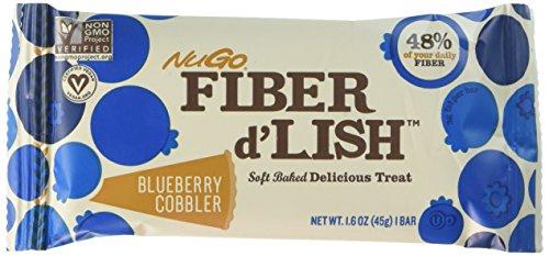 Nugo Nutrition Bar - Fiber Dlish - Blueberry Cobbler - 1.6 Oz Bars - Case of 16