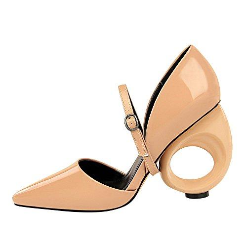 Sandales des cuir à rond sexy hauts chaussures verni pour nues soirée des les été avec talons et de bout à chaussures en femmes en HHqfAnrx