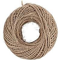 Mumoo Bear 100M Natural Burlap Hessian Jute Twine Cord Hemp Rope String 2mm Rustic Wrap Gift Packing String Wedding…