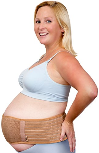 Band Pillow (Dr. Flink Maternity Belt Pregnancy Support Abdominal #1 Recommended Waist/Belly band Brace Abdomen Lumbar & Lower Back Pain Relief Support, Easy Fit, Breathable Adjustable Binder One Size, Beige)