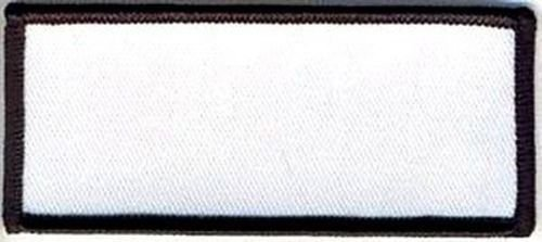 Blank Patch 3.5x1.5 White Background Black Border MC Embroidered Biker ()