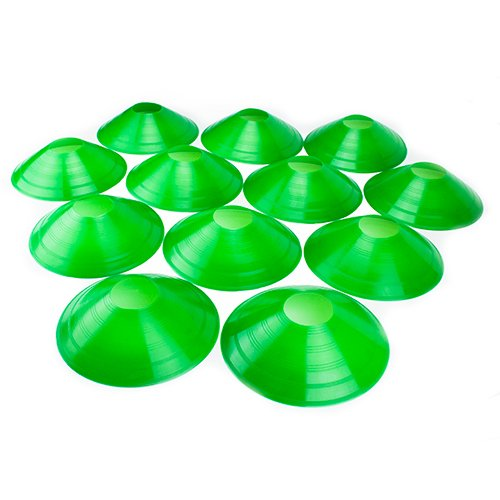 Crown Sporting Goods Set of 12 Soft Plastic Field Disc Cones (Green)