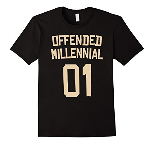 Last Minute Sports Halloween Costumes (Mens Offended Millennial 01 - Sports Halloween Costume TShirt 2XL Black)