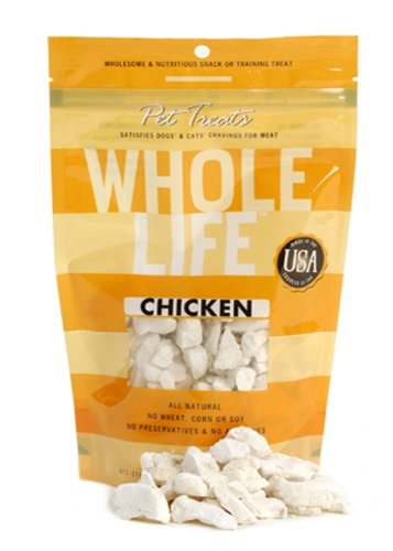 Whole Life Pet Pure Meat All Natural Freeze Dried Chicken Breast Treats 4 oz, My Pet Supplies