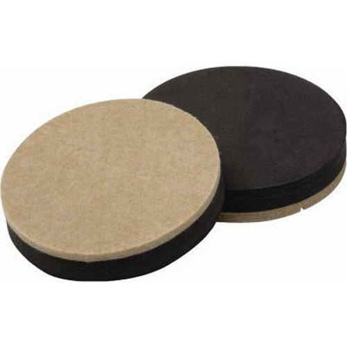 Shepherd Hardware 9407 3-1/2-Inch Reusable, Round, Felt Furn