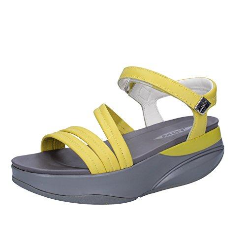 Mbt Sapatos, Couro 37 Senhoras Amarelo Ue