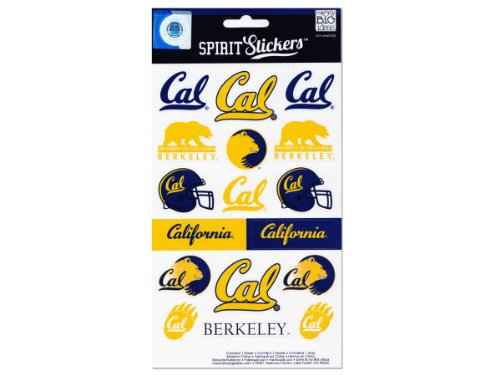 me & my BIG ideas Officially Licensed NCAA Spirit Stickers, California ()