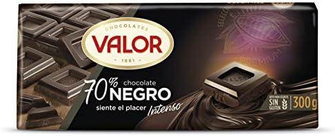 Chocolates Valor - Chocolate negro de 70% cacao - 300 g - [pack de ...