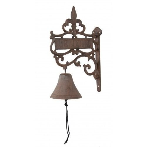 - Cast Iron Welcome Bell Fleur De Lis